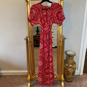 Forever 21 Contemporary Bandana Print Maxi Dress